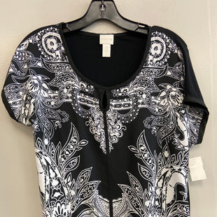 Primary Photo - BRAND: CHICOS STYLE: TOP SHORT SLEEVE COLOR: BLACK WHITE SIZE: S SKU: 313-31332-8098