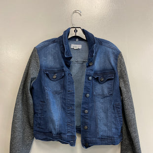 Primary Photo - BRAND:    CLOTHES MENTOR STYLE: BLAZER JACKET COLOR: DENIM SIZE: M OTHER INFO: MISS POSH - SKU: 313-31332-10044