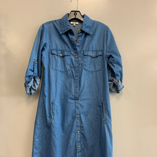 Primary Photo - BRAND: MPH STYLE: DRESS SHORT LONG SLEEVE COLOR: DENIM SIZE: S SKU: 313-31344-20649