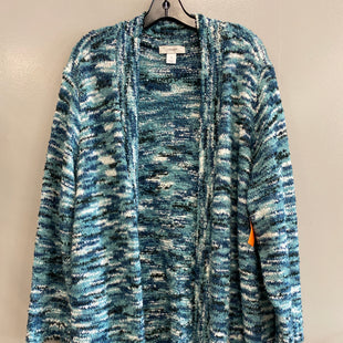 Primary Photo - BRAND: CJ BANKS STYLE: SWEATER CARDIGAN LIGHTWEIGHT COLOR: BLUE SIZE: 2X SKU: 313-31332-10253