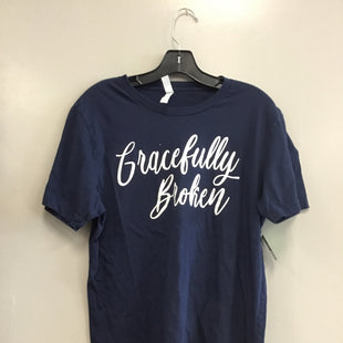 Primary Photo - BRAND: BELLA + CANVAS STYLE: TOP SHORT SLEEVE BASIC COLOR: NAVY SIZE: L SKU: 313-31332-11410