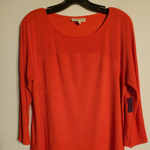 Primary Photo - BRAND: DANA BUCHMAN STYLE: TOP LONG SLEEVE COLOR: ORANGE SIZE: L SKU: