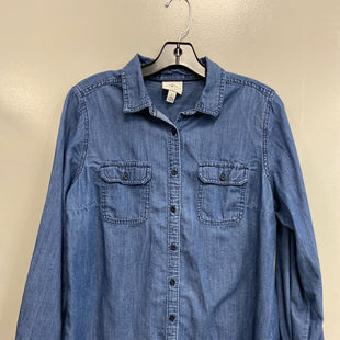Primary Photo - BRAND: ST JOHNS BAY STYLE: TOP LONG SLEEVE COLOR: DENIM SIZE: L SKU: 313-31344-18415