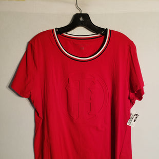 Primary Photo - BRAND: TOMMY HILFIGER STYLE: TOP SHORT SLEEVE COLOR: RED SIZE: XL SKU: 313-31344-7210