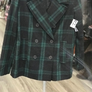 Primary Photo - BRAND: OLD NAVY STYLE: COAT SHORT COLOR: GREEN PLAID SIZE: L SKU: 313-31344-20325