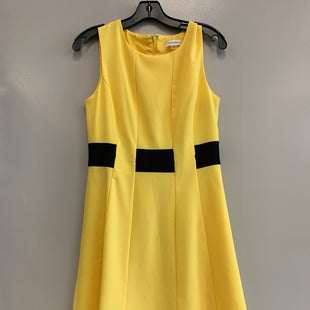 Primary Photo - BRAND: CALVIN KLEIN STYLE: DRESS SHORT SLEEVELESS COLOR: YELLOW SIZE: S SKU: 313-31349-2579