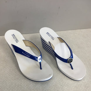 Primary Photo - BRAND: MICHAEL BY MICHAEL KORS STYLE: SANDALS LOW COLOR: BLUE WHITE SIZE: 8.5 SKU: 313-31311-32956