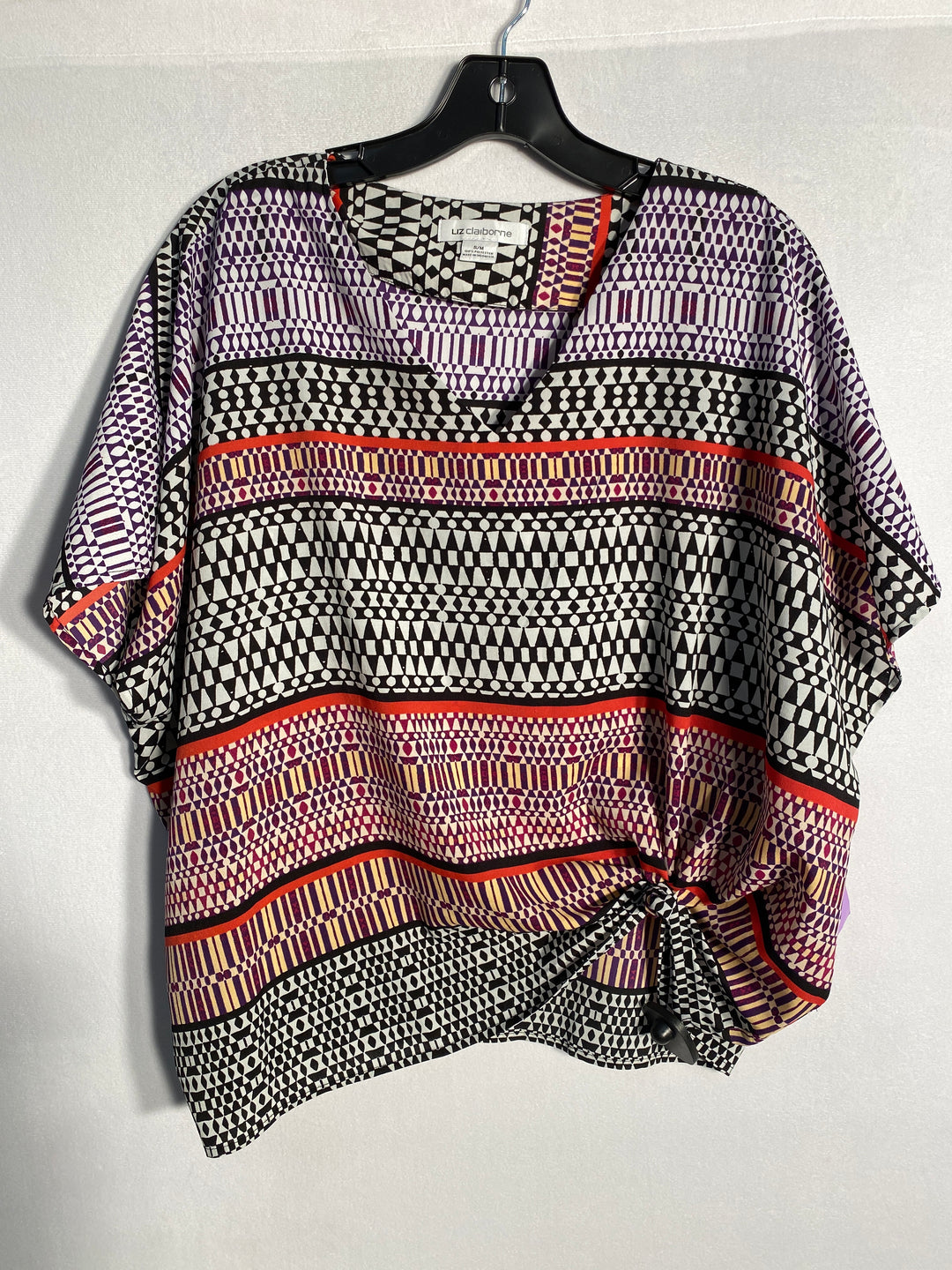 Primary Photo - BRAND: LIZ CLAIBORNE<BR>STYLE: TOP SHORT SLEEVE<BR>COLOR: PRINT<BR>SIZE: M<BR>SKU: 313-31328-19487