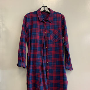 Primary Photo - BRAND:    CLOTHES MENTOR STYLE: DRESS SHORT LONG SLEEVE COLOR: PLAID SIZE: S SKU: 313-31318-11610