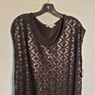 Primary Photo - BRAND: LIZ CLAIBORNE STYLE: TOP SHORT SLEEVE COLOR: BLACK SIZE: XL SKU: 313-31344-3232