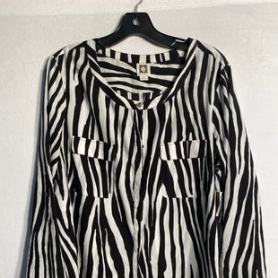 Primary Photo - BRAND: ANNE KLEINSTYLE: TOP LONG SLEEVECOLOR: ZEBRA PRINTSIZE: XLSKU: 313-31332-4738