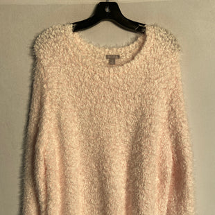 Primary Photo - BRAND: FALLS CREEK STYLE: SWEATER LIGHTWEIGHT COLOR: LIGHT PINK SIZE: 1X SKU: 313-31344-10159