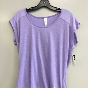 Primary Photo - BRAND:    CLOTHES MENTOR STYLE: ATHLETIC TOP SHORT SLEEVE COLOR: PURPLE SIZE: M OTHER INFO: BALLY - SKU: 313-31344-17282