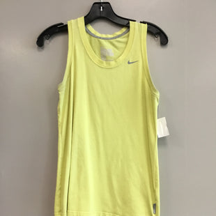 Primary Photo - BRAND: NIKE STYLE: ATHLETIC TANK TOP COLOR: YELLOW SIZE: M SKU: 313-31349-1342
