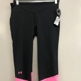 Primary Photo - BRAND: UNDER ARMOUR STYLE: ATHLETIC CAPRIS COLOR: BLACK SIZE: S SKU: 313-31332-7954