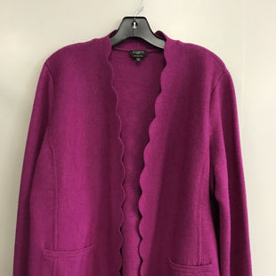 Primary Photo - BRAND: TALBOTS STYLE: SWEATER CARDIGAN LIGHTWEIGHT COLOR: PURPLE SIZE: PETITE   XL SKU: 313-31344-19654