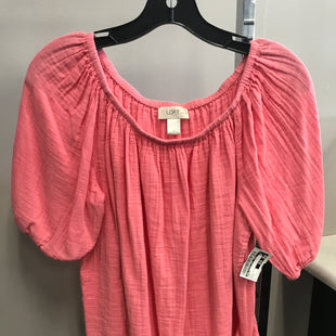 Primary Photo - BRAND: ANN TAYLOR LOFT STYLE: TOP SHORT SLEEVE COLOR: PINK SIZE: L SKU: 313-31328-33547