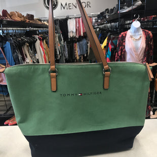 Primary Photo - BRAND: TOMMY HILFIGER STYLE: HANDBAG COLOR: GREEN SIZE: LARGE SKU: 313-31349-4394