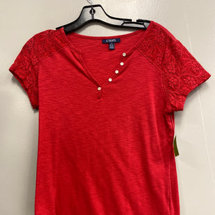 Primary Photo - BRAND: CHAPS STYLE: TOP SHORT SLEEVE COLOR: RED SIZE: M SKU: 313-31328-33393
