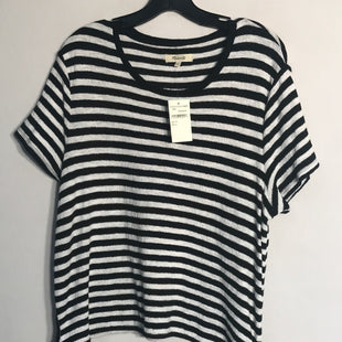 Primary Photo - BRAND: MADEWELL STYLE: TOP SHORT SLEEVE COLOR: STRIPED SIZE: XL SKU: 313-31311-24389