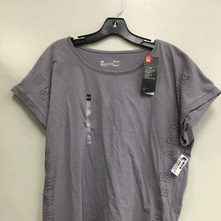 Primary Photo - BRAND: UNDER ARMOUR STYLE: ATHLETIC TOP SHORT SLEEVE COLOR: PURPLE SIZE: L SKU: 313-31344-20135