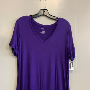 Primary Photo - BRAND: APT 9 STYLE: TOP SHORT SLEEVE COLOR: PURPLE SIZE: L SKU: 313-31349-509
