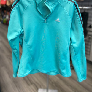 Primary Photo - BRAND: ADIDAS STYLE: ATHLETIC TOP COLOR: TURQUOISE SIZE: L SKU: 313-31344-12889