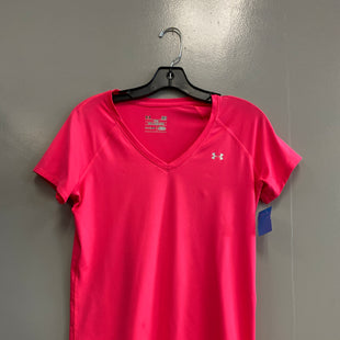 Primary Photo - BRAND: UNDER ARMOUR STYLE: ATHLETIC TOP SHORT SLEEVE COLOR: PINK SIZE: S SKU: 313-31332-9762