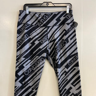 Primary Photo - BRAND: CALVIN KLEIN PERFORMANCE STYLE: ATHLETIC CAPRIS COLOR: BLACK SILVER SIZE: XL SKU: 313-31332-9142