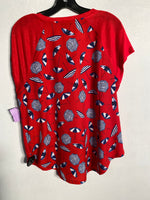 Photo #1 - BRAND: TALBOTS<BR>STYLE: TOP SHORT SLEEVE<BR>COLOR: RED WHITE BLUE<BR>SIZE: M<BR>SKU: 313-31328-21850