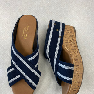 Primary Photo - BRAND: SONOMA STYLE: SANDALS LOW COLOR: NAVY SIZE: 8.5 SKU: 313-31344-21480