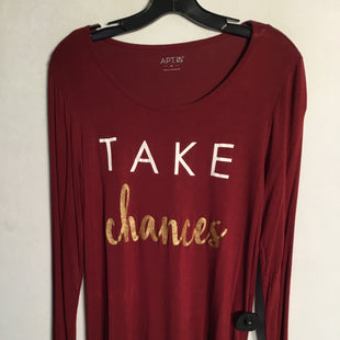 Primary Photo - BRAND: APT 9 STYLE: TOP LONG SLEEVE COLOR: MAROON SIZE: M SKU: 313-31311-24232