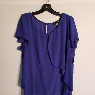 Primary Photo - BRAND:    CLOTHES MENTOR STYLE: TOP SHORT SLEEVE COLOR: ROYAL BLUE SIZE: XL OTHER INFO: LIBIAN - SKU: 313-31328-24925