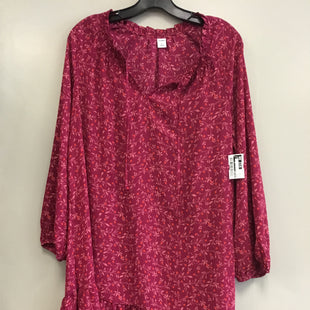 Primary Photo - BRAND: OLD NAVY STYLE: DRESS SHORT LONG SLEEVE COLOR: PINK SIZE: M SKU: 313-31344-18366