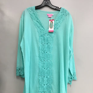 Primary Photo - BRAND: ISAAC MIZRAHI STYLE: COVERUP COLOR: TEAL SIZE: XL SKU: 313-31311-29203