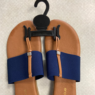 Primary Photo - BRAND:    CLOTHES MENTOR STYLE: SANDALS FLAT COLOR: NAVY SIZE: 10 OTHER INFO: ANDRE ASSOUS - SKU: 313-31311-32654