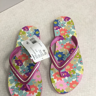 Primary Photo - BRAND: COACH STYLE: FLIP FLOPS COLOR: FLORAL SIZE: 10 SKU: 313-31354-306