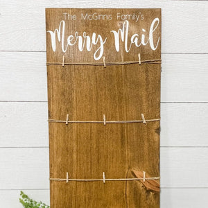 Merry Mail Christmas Card Display | 11.5 x 24 Sign