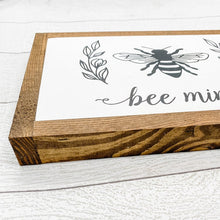 Load image into Gallery viewer, Bee Mine | 13x8 Wood Sign