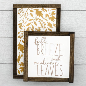 Fall Breeze and Autumn Leaves Sign Set