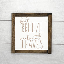 Load image into Gallery viewer, Fall Breeze and Autumn Leaves Sign Set