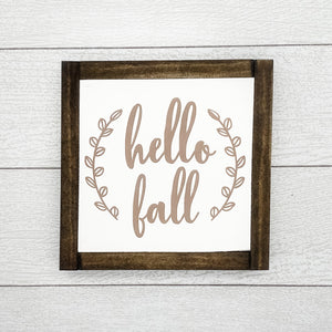 Hello Fall | 8 x 8 Sign