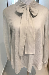Fan Bow Blouse Mint Grey