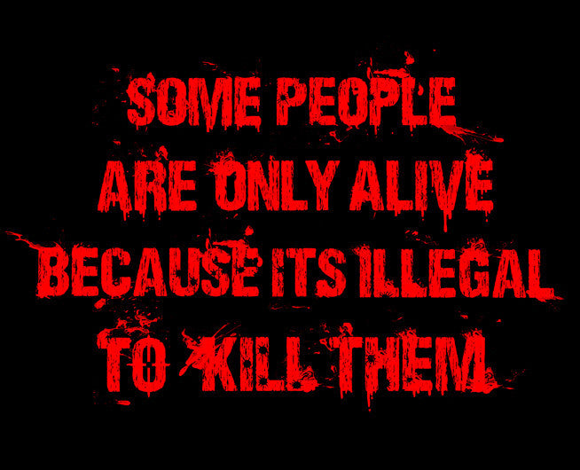 Illegal to Kill People Tee