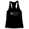 Attempting to Care Women's Racerback Tank