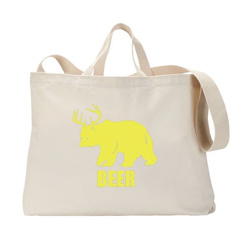 Bear + Deer = Beer Tote Bag