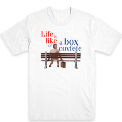 Life is Like a Box of Covfefe Men's Tee