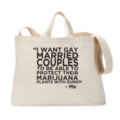 Gay Marry Jane Guns Tote Bag