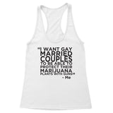 Gay Marry Jane Guns Women's Racerback Tank