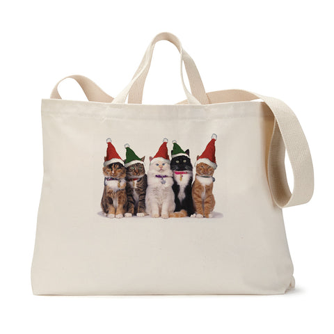Holiday Pussy Cats Tote Bag